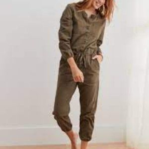 Aerie Green Utility Jumpsuit Size XS